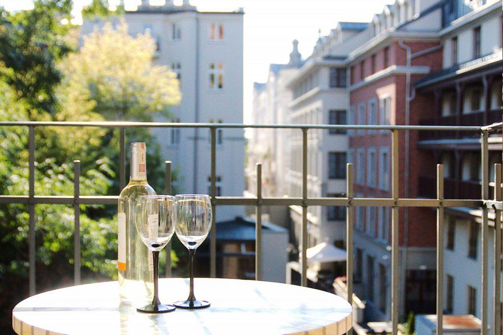 widok z apartamentu na Kazimierz
