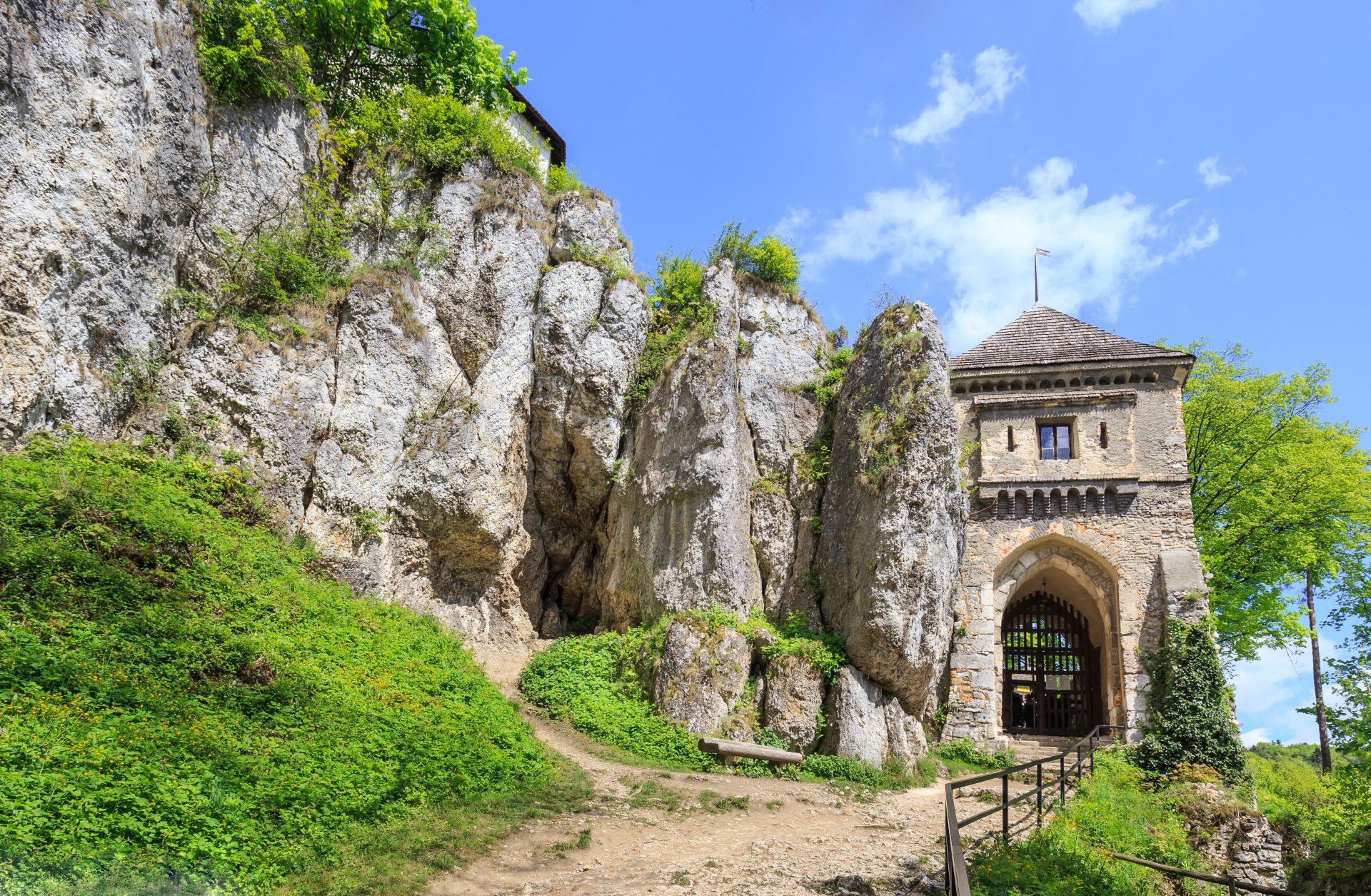 The entrance gate to the castle Castle in Ojcow, nearby Krakow